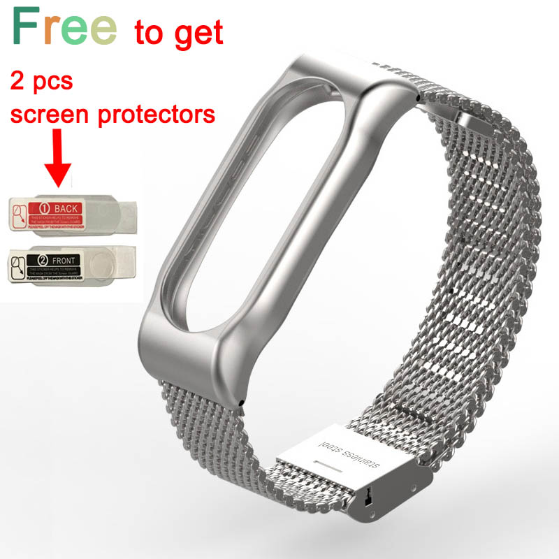 Stainless Steel Replacement Strap For Xiaomi Mi Band 2 Smart Accessories for mi band 2 Strap Smart Band Wrist belt for Miband 2 1