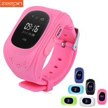 Zeepin Q50 Smart Telephone Watch Kids GPS SOS Call Locator Track Anti-Lost OLED/LCD Baby Safe Monitor for iOS Android Russian(China)