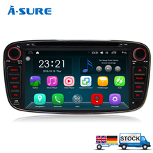 A-Sure DAB Android 6.0 CD DVD Radio Player Navi GPS for FORD FOCUS Mondeo GALAXY C-Max S-MAX Kuga(Hong Kong)