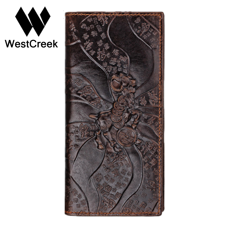 Brand Unique Design Goats Pattern Genuine Leather Mens Wallets High Quality Real Leather Man Purse by GMW010<br><br>Aliexpress