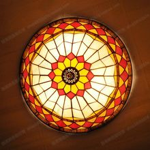 Free Shipping 40CM American art minimalist bedroom ceiling lamps Tiffany children study stained glass lamps lighting(China)