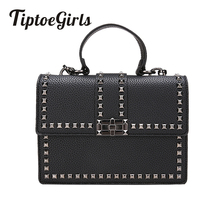 Buy New Wide Shoulder Strap Korean Small Square Bag Fashion Rivet Ladies Bag Tide Handbag Retro Shoulder Diagonal Package for $21.42 in AliExpress store