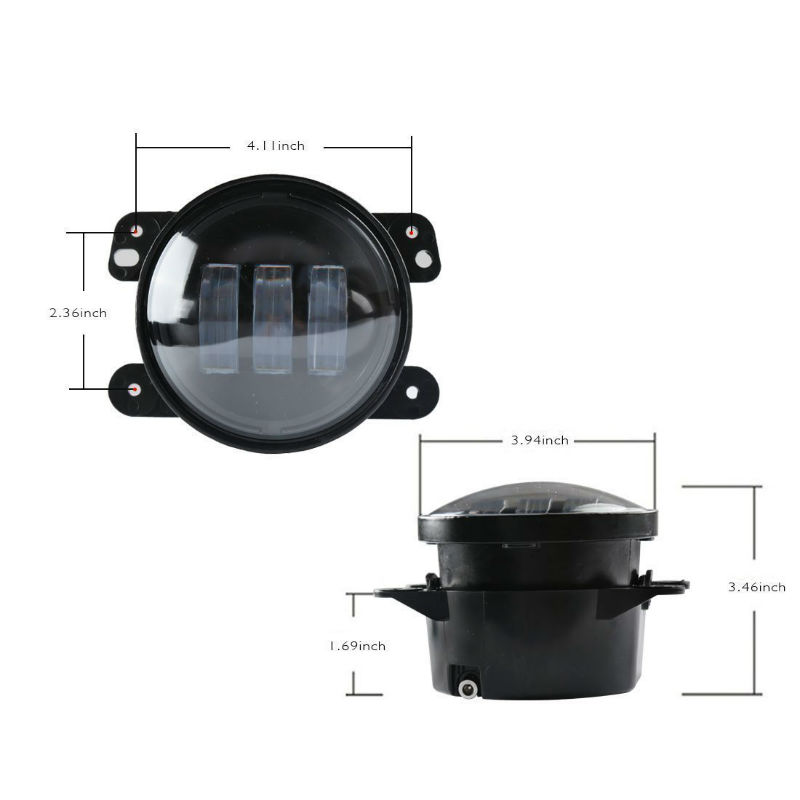 4inch led fog light size800