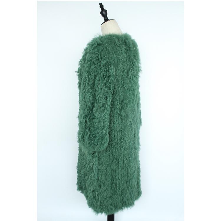 women natural lamb sheep fur coat (8)