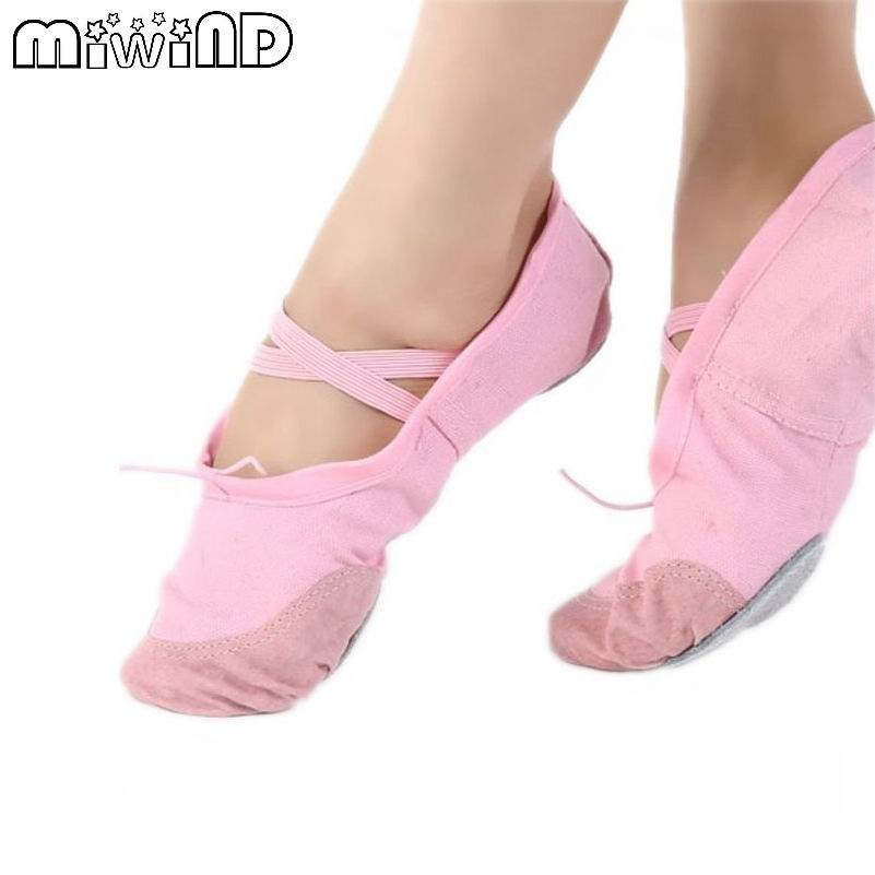 High Quality Children Girl Women Soft Split Sole Breathable Tip Comfortable Flat Ballet Shoes 4 Colors F676 <br><br>Aliexpress