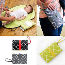 Hot Baby Portable Folding Diaper Changing Pad Waterproof Mat Bag Travel Storage(China)