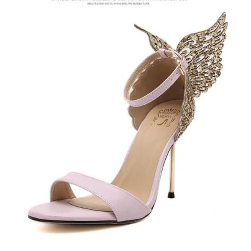 Explosion Models 2016 New Fashion Valentine Shoes Bronzing sequins Butterfly High Heels Sandals Stiletto/Party Wedding Sandals<br><br>Aliexpress