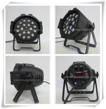 Newest Product 8Xlot Led Par Can Light 18X18w RGBWA UV 6 IN 1 LED Par Zoom Stage Light DMX Dimmer Strobe Lighting Effect