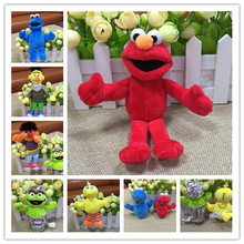 Free shipping 60pcs/lot Sesame Street Elmo Plush Pendant Big Bird Erniz Bert Dolls Soft Plush Stuffed Pendant Doll Toy