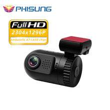 "Mini 0805 Ambarella A7 chip HD 1296p Car DVR Dash Camera 1.5""WDR Night Vision Auto Registrator Video Recorder dashcam w/ GPS log"