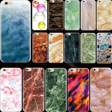 For 6Plus 5.5''  Wholesale Price Painting Marble Silicon Phone Shell Cover For Apple iPhone 6 Plus iPhone 6S Plus Case Cases Hot