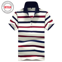 Brand New Men Boss Horse Polo Shirts 2017 Summer Luxury Breathable Ralphmen Camisa Masculina Male Clothing Striped Polo Shirt(China)