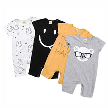 Summer Cartoon Baby Girls Boys Clothing Rompers Cotton Clothings Newborn Clothes Short Sleeve Baby Girl Clothes Infant Jumpsuit