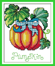 Joy Sunday Needlework DIY Cross Stitch Sets for Embroidery Kits Precise Printed Pumpkin Stamped and Counted Cross-Stitching(China)