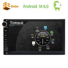 Android 6.0 7''Car Stereo Double Din Headunit GPS Navigation Car Radio Multimedia System Support Bluetooth/WiFi/OBD2/Mirror-link