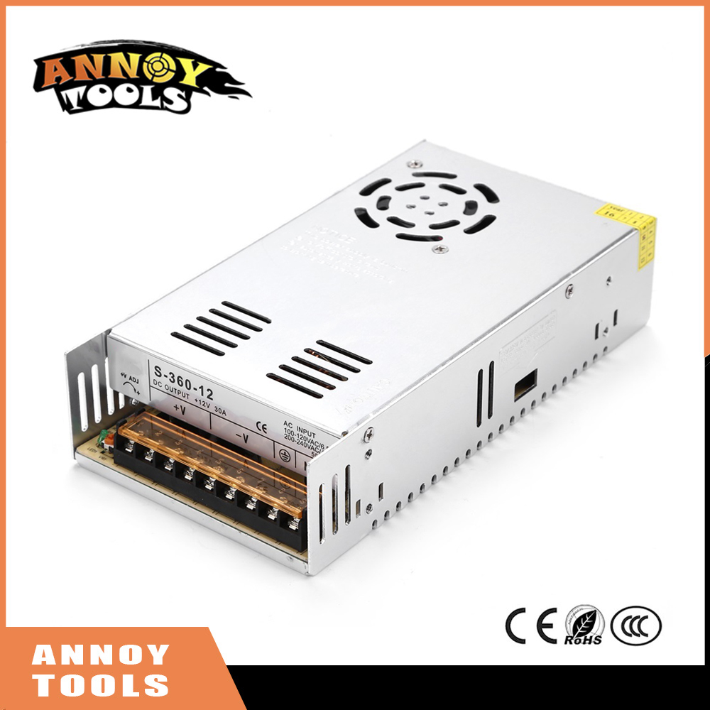 High Quality 12V 30A 360W Switching Power Supply Driver for CNC engraving machine AC 100-240V Input to DC 12V30A<br>