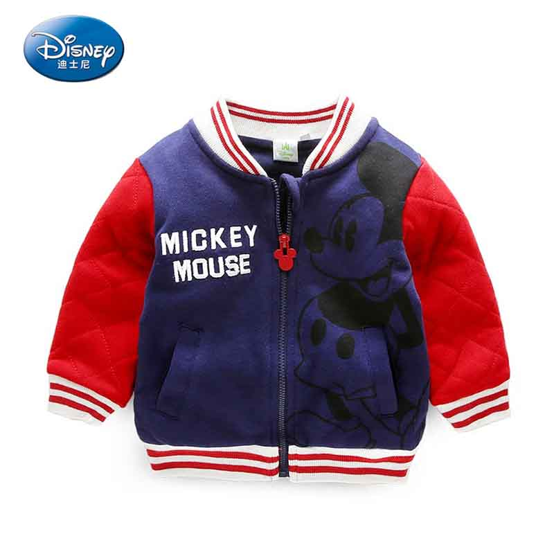 Disney 2017 Popular Mickey Mouse Printed Childrens Jacket Long-sleeved Cartoon Cute Zipper Cardigan Jacket<br>