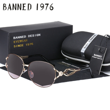 BANNED women's HD polarized fashion Sunglasses hot sell newest brand name lens feminin diamond sun Glasses vintage with gift box(China)