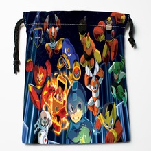 Best Video Games Megaman Drawstring Bags Custom Storage Printed Receive Bag Type Bags Size 18X22cm Storage Bags(China)