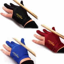 Lycra Pool Cue 3 Finger Gloves Snooker Billiard Cue Glove Left Hand(China)