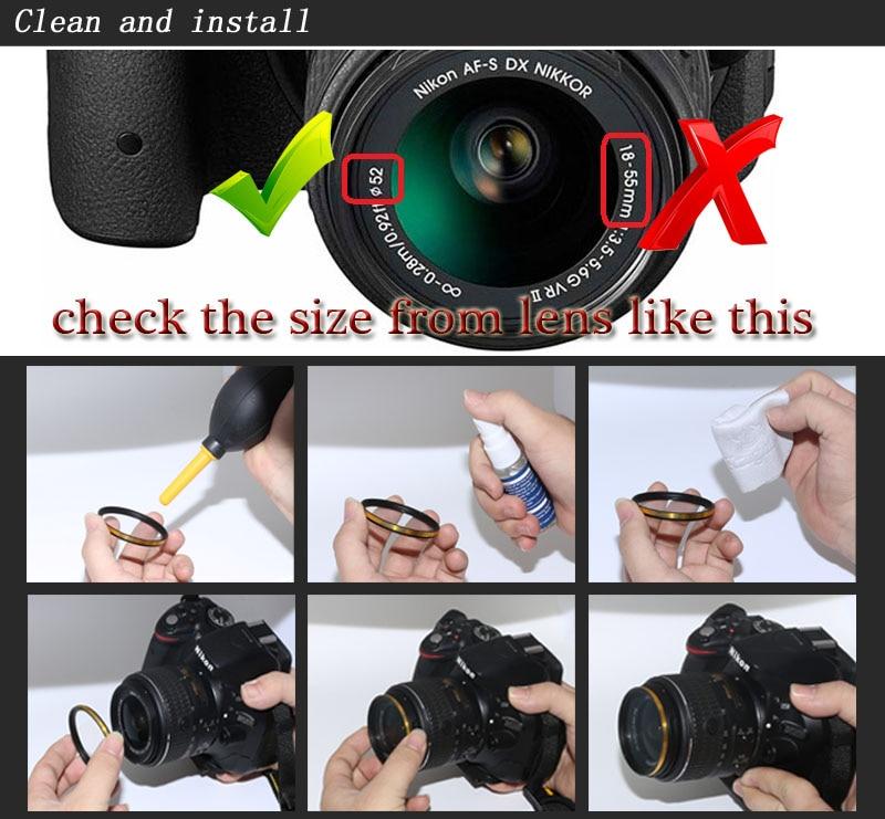 KnightX 52mm 58MM 67MM Graduated Color ND CPL UV Lens Filter Kit for Nikon canon D5100 D3300 D5300 D50 D3100 D30 SLR Camera 15