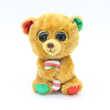 "Ty Beanie Boos Big Eyes 6"" Candy Bear Kawaii Plush Animal Christmas Birthday gift Toys(China)"