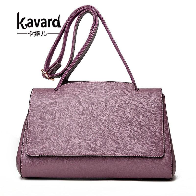 Kavard Bag Women Leather Handbags Designer Fashion Shoulder Bags 2017 High Quality Bags Handbags Women Famous Brands Purses<br>