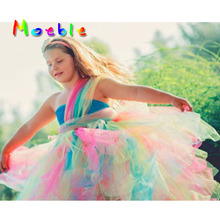 Rainbow Bright Vibrant Color Tutu Dress for Girls Perfect for Parties/Photo Shoots/School Pictures ect. Baby Kids Easter Costume