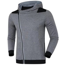 New Men Running Jackets Fitness Sports Coat Soccer Football Training Gym Elastic Corset Hooded thick Keep warm Reflective Zipper(China)