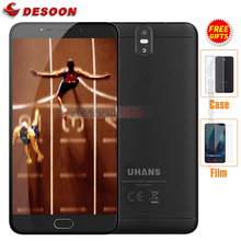 "Gifts! UHANS MAX 2 MTK6750T Octa Core 4G Mobile Phone 6.44"" FHD 4GB RAM 64GB ROM 13MP+13MP Dual Real Cameras 4300mAh Fingerprint(China)"