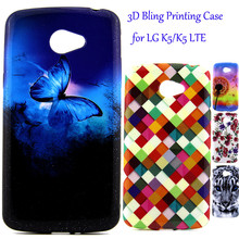 3D Luxury Bling Phone Case For LG K5 / K5 LTE X220 X220DS Q6 Glitter Cartoon Soft TPU Silicone Shell Back Cover For LG K5 Fundas