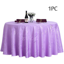 Polyester Dining Table Cloth Decoration Party Wedding Hotel Table Cover Round Tablecloth Burgundy Ivory Table Linen Wholesale(China)