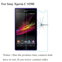 Tempered Glass Screen Protector For Sony Xperia C S39h 2305 C2304 C2305 S39 Dual Protective Film Guard pelicula de vidro