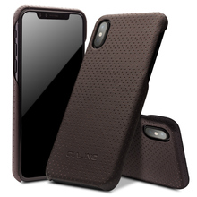 Buy QIALINO Genuine Leather Case iPhone X Luxury Ultrathin Cases iPhone X fashion Full Protective Back Cover 5.8 inch for $23.75 in AliExpress store
