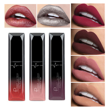 2017 Brand Makeup Lip Gloss Cosmetics Long Lasting Pigment Metallic Sexy Red Lip Tint Velvet Matte Nude Liquid Lipstick 21colors