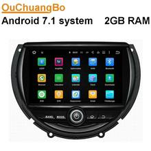 Ouchuangbo car audio dvd gps radio for mini cooper 2014 2015 with dual core MP3 BT factory price andrdoid 7.1 OS