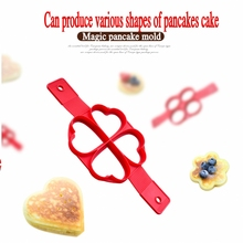New Nonstick Silicone Cake Mould Manufacturing Forming Machine of Heart-shaped Round Wafers Kitchen Omelet Mold Tool(China)