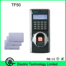 Biometric fingerprint time attendance and access control system with 125KHZ RFID card TCP/IP TF50 finger print door lock(Hong Kong)