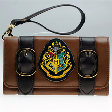 Harry Potter Hogwarts Castle Crest Envelope Satchel Fold Wallet Purse with Tag DFT-1953(China)