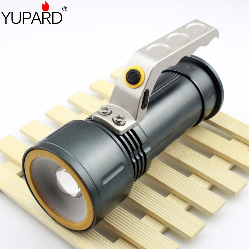 YUPARD zoomable Flashlight zoom Spotlight Searchlight XM-L2 T6 LED white red light emergency Torch 18650 rechargeable battery(China)