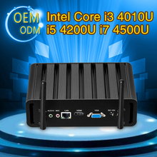 Mini Computer Fanless Mini PC Windows10 Core I3 4010U I5 4200U I7 4500U 8G RAM 256G SSD industrial PC Rugged PC Mini Computador