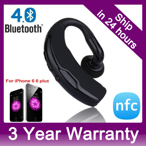 Wireless Bluetooth 4.0+EDR NFC Headset Headphone with Voice Control and Noise Cancellation Hands-Free Stereo A2DP Earphones<br><br>Aliexpress