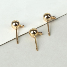 Wholesale 10pcs/lot Suspension Type Stud Earring Rhodium Gold Color For DIY Earring Jewelry Findings(China)
