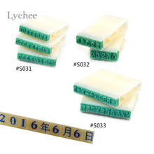 Lychee 1 Set Detachable Plastic Rubber 26 English Alphabet Letters Figure Symbol Stamp Set for Marking Multifunctional Stamps