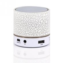 A9 Smart Colorful LED Light Crack Pattern Mini Wireless Bluetooth Speaker, Portable Bluetooth Stereo Speaker With USB/TF/FM/AUX