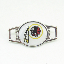 10pcs/lot football Washington Redskins Teams Shoelace Charms For New Sneakers Sport Shoes Paracord Bracelets Decoration Jewelry(China)