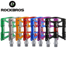 ROCKBROS 4 Sealed Bearings Bicycle Pedal Anti-slip Ultralight CNC MTB Mountain Road Bike Pedals Bicycle Parts Accessories BMX