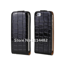 Vertical Flip Croco Leather Case Cover For iPhone 5 5S with black,white,dark red,hot pink,brown,pink + Free Shipping(China)