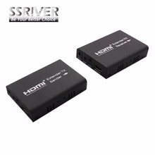 SSRIVER 100M HDMI Extender Over Single cat5e/cat6 Support IR 3D Extend HDMI (TCP/IP)