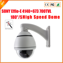 High Quality 1/3'' SONY Effi-E CCD 700TVL 4'' Mini High Speed Dome Camera Indoor/Outdoor 10 Zoom PTZ Camera CCTV Camera OSD Menu